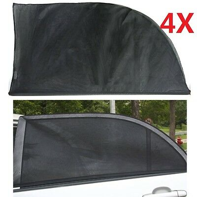 4x Car Sun Shade Cover Rear Side Window Kid Protector Max UV Protection Black UK