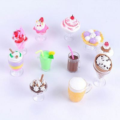 17pcs/Set DIY Toy Dollhouse Plate Goblets Dish Decor Mini Cups