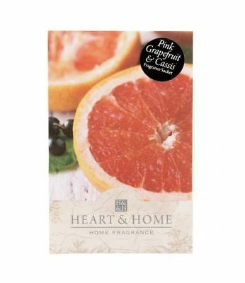 Pack of 6 Heart and Home Pink Grapefruit Large Scented Sachet with Hanger