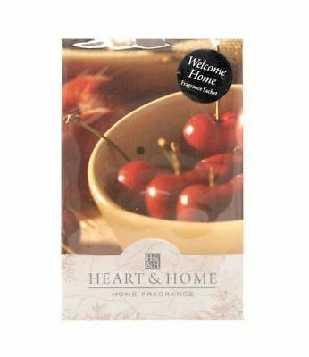 Pack of 6 Heart and Home Welcome Home Large Scented Fragrance Sachet with Hanger