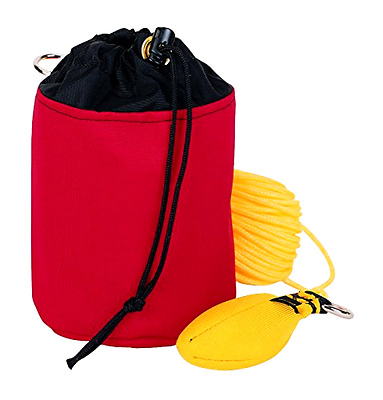 Throw Line Storage Bag Weaver Leather Red Small Holds 150 Ft Throw Line 4x6 Inch