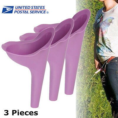 3Pcs Portable Female Urinal Outdoor Camping Urination Toilet Urine Device Funnel