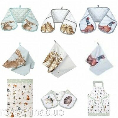 Wrendale Countryside Animal Textiles Tea Towel Oven Gloves