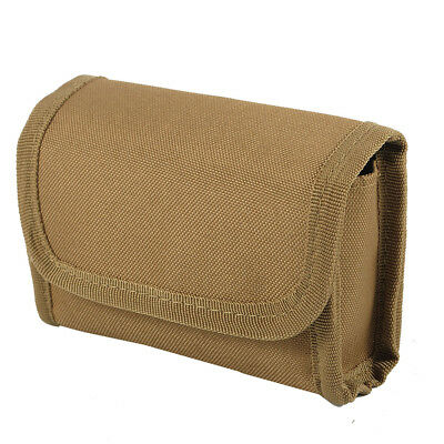 Tactical Shotgun 12/20 GA Gauge Molle Shell Pouch Magazine Bag Portable Tan