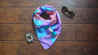 New Women Blue and Pink Shawl Wrap Scarf