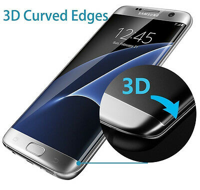 Full Curved Temper Glass Screen Protector 4 Samsung Galaxy S6 S7 Edge Plus