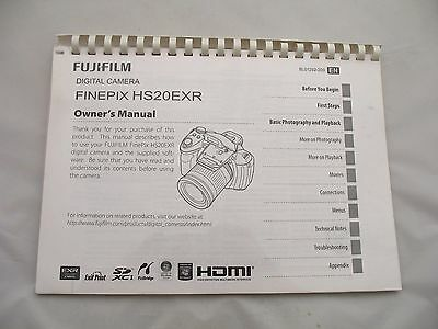 Paper Printed User Manual Instruction Guide Book Fuji Finepix Hs20Exr