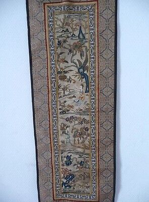 Antique Chinese Silk Embroidered Sleeve Panel