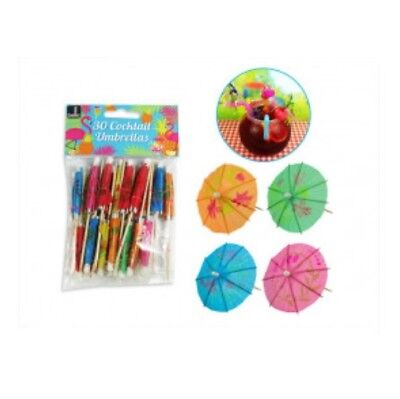 Bello Pack Of 30 Paper Cocktail Umbrellas Sticks Decorative Drinks Picks Bright