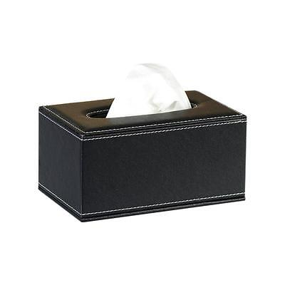 PU Leather Tissue Box Cover Pumping Paper Hotel Car Home Decor Napkin Holder Y-