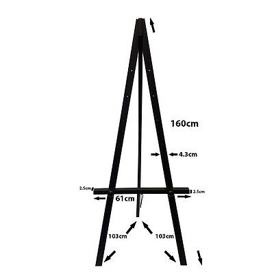 Heavy Duty Greco Easel, white, 160cm picture canvas photo stand A1 A0 wood easel