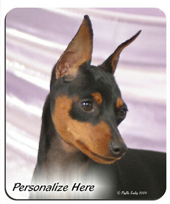 Miniature  Pinscher    ( 10 )  Min Pin    Personalized  Mouse Pad
