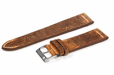 20mm ColaReb SPOLETO brown Italian Vintage genuine leather watch band strap