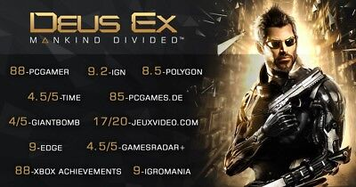 Deus Ex: Mankind Divided PC [Steam Key] No Disc, Region Free