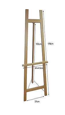 Heavy Duty 'Big' 160CM Easel, white,  picture canvas stand A1 A0 wood easel