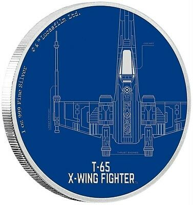 Niue 2 Dollar 2017 - T-65 X-Wing Fighter - Star Wars Ships (3.) 1 Unze Silber PP
