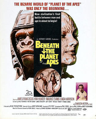 Beneath the Planet of the Apes 1970 35mm Film Cell strip very Rare var_p