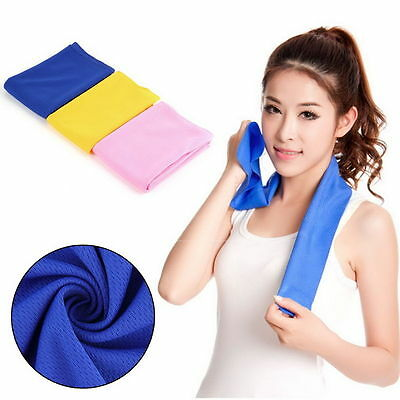 2015 New Ice Cold Cool Sport Towel Scarf Reuseable Cycling Jogging Golf QT3