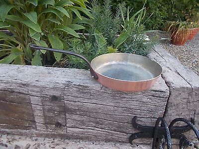 Beautiful Stamped Deep Vintage Copper Saute Pan  Ref T11/160
