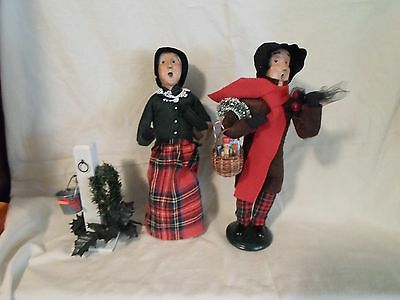 SET OF 2 BYERS CHOICE CAROLERS 1998 and 1999
