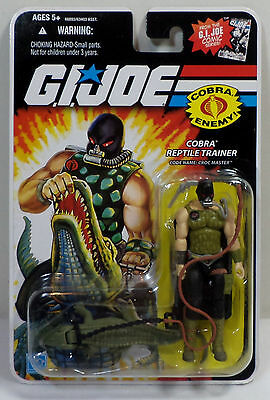 HASBRO GI JOE 2008 25th ANNIVERSARY COMIC COBRA CROC MASTER V3 ACTION FIGURE MOC