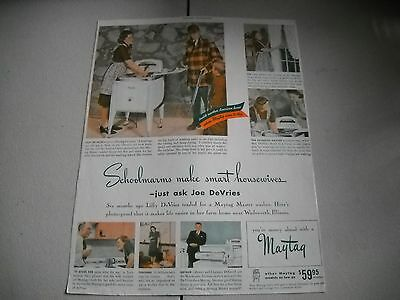 Maytag Advertisement  March 1941  Schoolmarms make Smart Housewives
