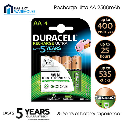 Duracell AA 2500mAh Ready To Use Rechargeable Battery - Pack of 4 | HR6 DX1500