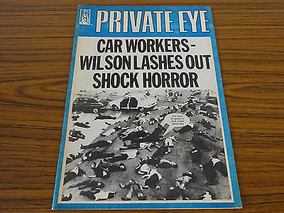 Private Eye Magazine: No.341: 10th Jan. 1975: Car Workers: Wilson Lashes Out