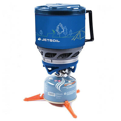 Jetboil Minimo 1l Lightweight Camping Hiking Cooking System, Blue Line Art