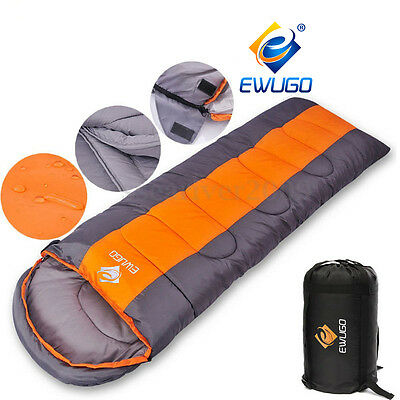 Envelope Sleeping Bag Season Camping Travel Hiking Suit Case Adult Size 4-5