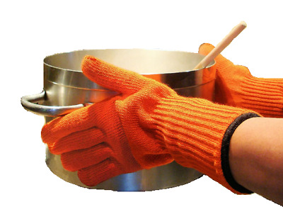 Heat PROOF Oven Gloves Mitts *EXTRA LONG ARMS WRIST PROTECTION!* Hot Pan Cooking