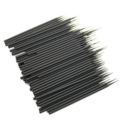 100PCS Dental Disposable Micro Applicator Brush Black Size 1.2 mm Free Shipping