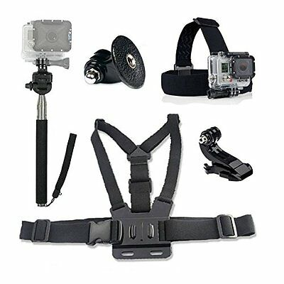 Ultimate GoPro Accessories Pack Head & Chest Strap & Monopod HD & Hero 1/2/3/+/4