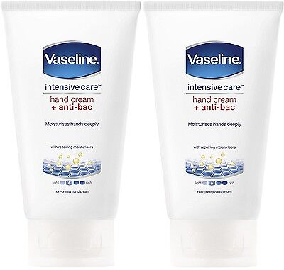 Vaseline 2-in-1 Hand Cream and Anti-Bacterial 75ml (2 PACK)