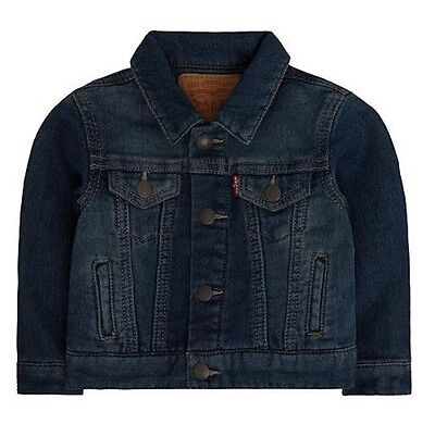 NWT Baby Boy Levi's Denim Knit Trucker Jacket 12M 18M 24M Months Blue Waverly