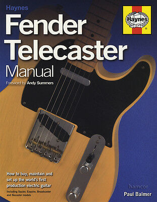 Haynes Fender Telecaster Manual Softcover How to Buy Maintain and Set-up