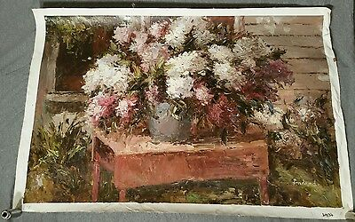 Beautiful Oil Painting on Canvas. Estate find! Vintage large Beautiful! 24×36