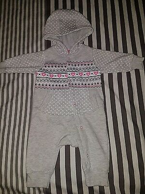 Baby girl 0-3 months funky all in one hoody
