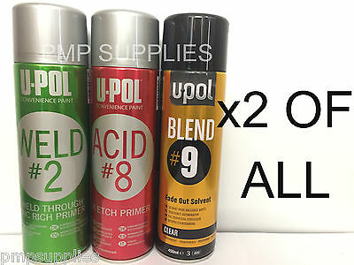 UPOL WELD 2 ACID 8 BLEND 9 x2 OF ALL CASE OF 6       PRICE DROP!