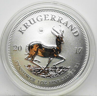 2017 SOUTH AFRICA 50th Anniversary First Ever Premium SILVER KRUGERRAND UNC