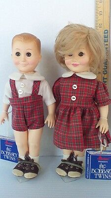 Effanbee The Bobbsey Twins Freddie and Flossie 11.5 inch Dolls  original Outfits