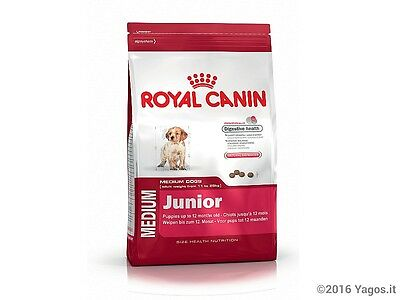 Alimento per cani Medium Junior Royal Canin 15kg con 3kg omaggio