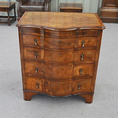 Queen Anne style walnut chest of drawers