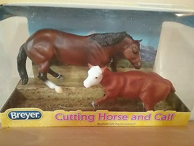 Breyer #61091 Cutting Horse and Calf NRFB