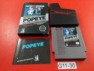Popeye [CIB Complete in Box] (Nintendo NES) Cleaned, Tested & Working