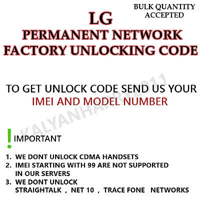AT&T LG PHOENIX 3 network UNLOCK CODE service all imei block barred supported