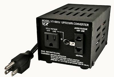 VCT VT-500J-Japanese Step Up/Down Voltage Transformer Converts Japan 100V to ...