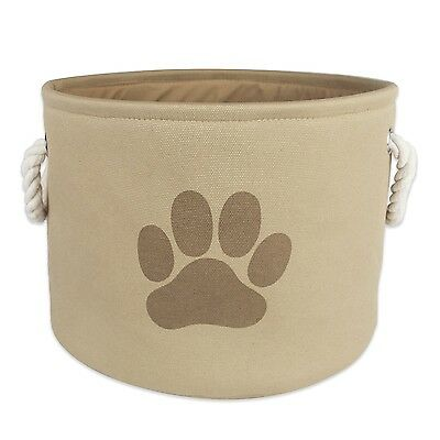 Bone Dry Dii Pet Toy and Accessory Round Storage Basket Taupe 12 X 14.5-Inch