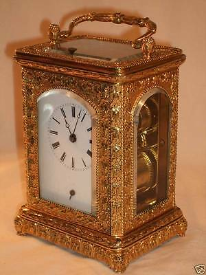 Magnificent Early Repeat/Alarm Decorative Carriage Clock by Cailly c 1830