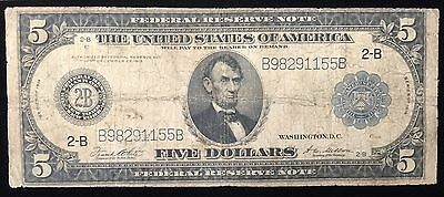 Lot/2 Usa 5 & 10 Dollars 1914/1977 Blue/green Seal Star Note